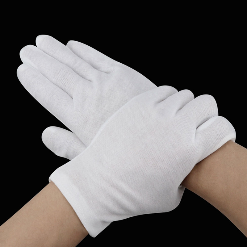 Apparel Accessories 6 Pairs White Gloves Inspection Cotton Work Gloves Jewelry Lightweight Hight Quality