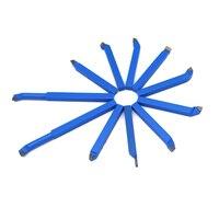 כלי קרביד מחרטה 11pcs 8mm 10mm מתכת קרביד ריתוך CNC מחרטה כלים Brazed כטיפ קאטר כלי Bit חיתוך הגדר ערכות ריתוך מפנה בעל הכלי (3)