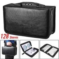 128 Disc DVD CD Case Storage Bag Album Collection Holder Box Carrying Organizer Disc DJ Blu Ray Storage Wallets PU leather