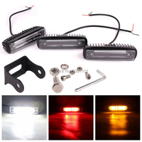 2PCS 30W Red/White/Yellow Beam LED Work Light Bar for Universal Cars as 2007 2014 Jeep Wrangler Unlimited JKU 4 Door etc.