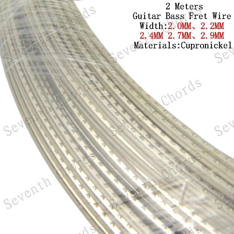 2 metros cupronickel baixo elétrico guitarra traste fio, cobre liga de níquel guitarra fingerboard traste fio 2.9mm & 2.7mm & 2.4mm & 2.2mm