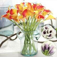 Искусственный цветок поддельные Калла лилии украшения яркие для свадьбы дома вечерние 2019ing
