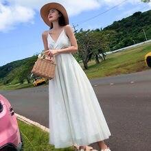Женское богемное шифоновое платье супер сказочное Летнее белое