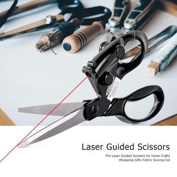 Tijeras guiadas láser profesionales para artesanías caseras envoltura de regalos corte de costura corte recto tijera rápida