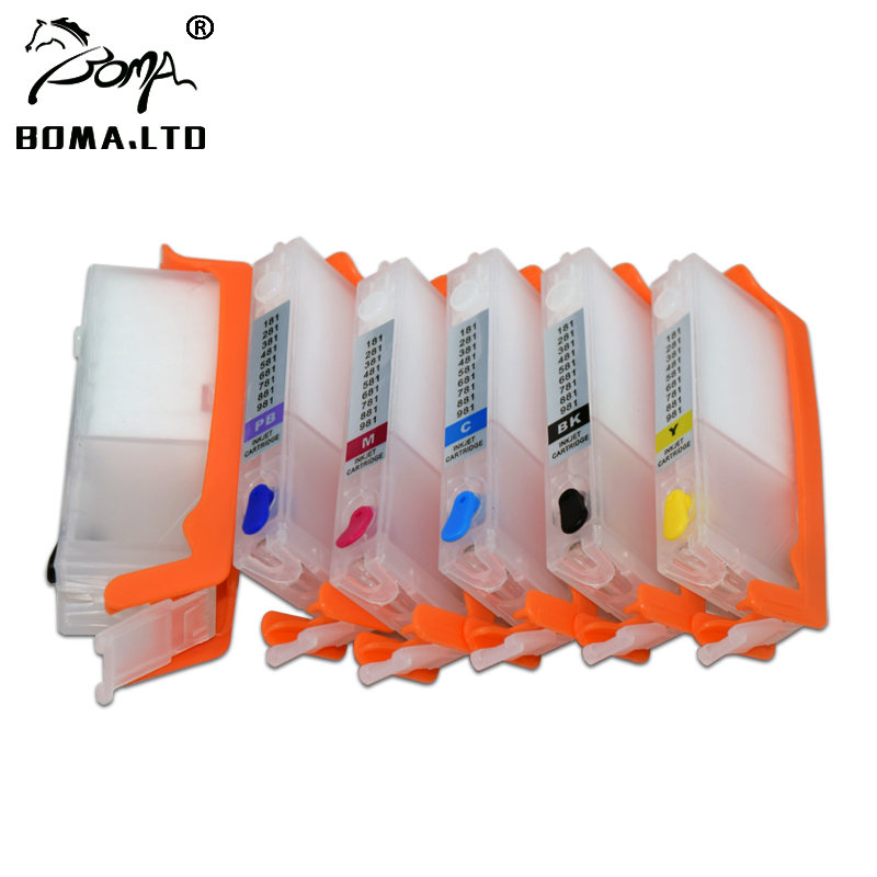 BOMA LTD 280 281 PGI 280XXL CLI 281XXL Refill Ink Cartridge For Canon PIXMA TS8120 TS9120 TR7520 TR8520 TS6120 Printer With Chip in Ink Cartridges from Computer Office