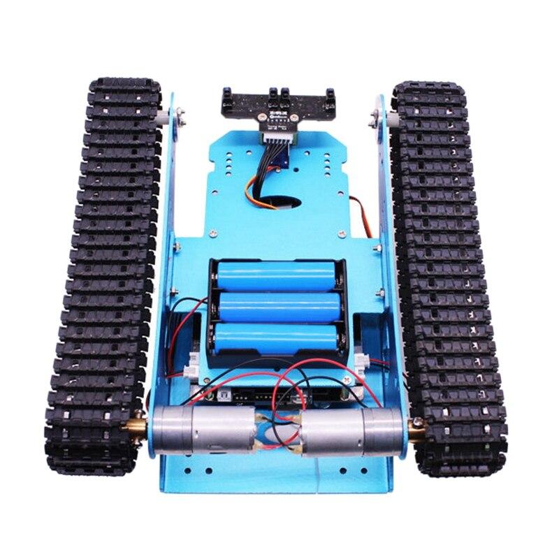 Kit de tanque de coche FBIL Robot para vehículo Robot de chasis de tanque inteligente programable Arduino, juguete educativo inteligente para niños - 3