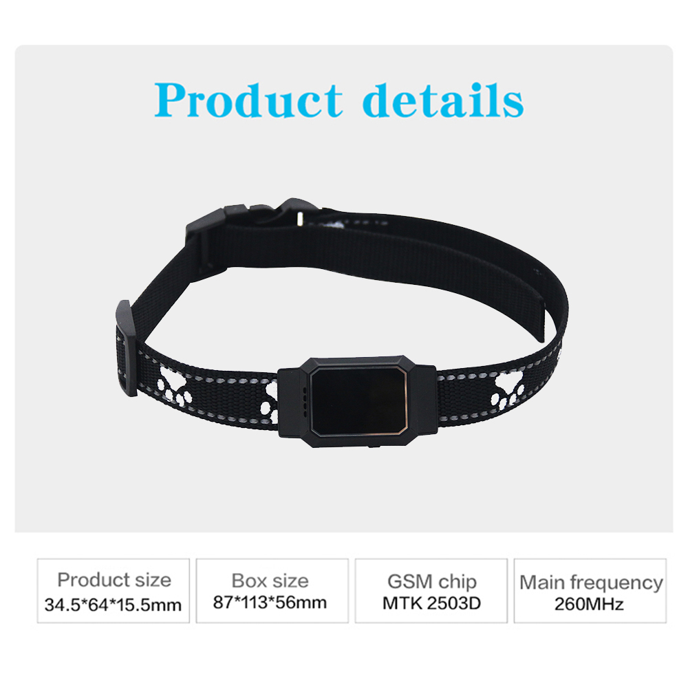 Back To Search Resultsconsumer Electronics Smart Gps Tracker Mini Pet Position Collar Ip67 For Dog Cat Agps Lbs Positions Geo-fence Sos Realtime Tracker Anti-lost Tracking Smart Electronics