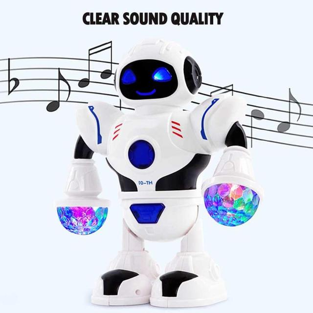 Children Interactive Electric Space Dancing Robot Machine with Music Light PNLO