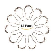 Новые 12 шт. ферролегированные кольца для шторы в душевой крючки шарики ролики оптом