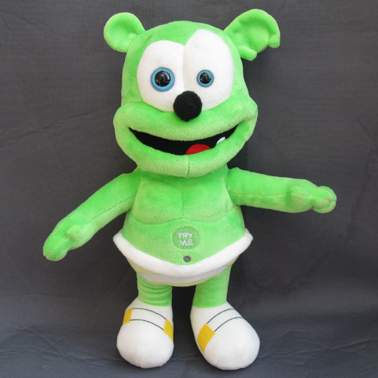 Green sounding gummy bear 24 seconds music singing plush toy Voice Pet soft toys for children kids giftGreen sounding gummy bear 24 seconds music singing plush toy Voice Pet soft toys for children kids gift