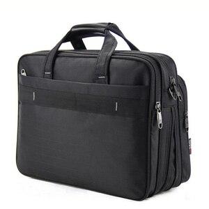 Image 3 - Volasss 2020 Klassische Aktentaschen Für Männer Handtaschen Hohe Qualität Wasserdichte Nylon Tuch Frauen Business Reise 15,6 Zoll Laptop Taschen