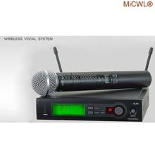 100% micwl marca slx slx24 beta58/sm 58 uhf profissional sistema de microfone sem fio cardióide sm beta 58 handheld microfone mic