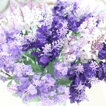10 flower Head Lavender Decorated Wall Simulation Wedding Decoration diy fake plastic flowers party supplies