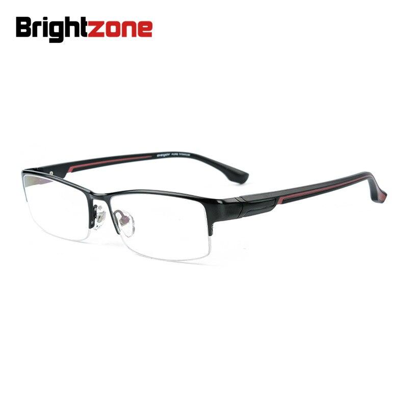 Brightzone nouveau Super léger demi-jante mode hommes IP électronique placage titane lunettes Prescription lunettes cadre