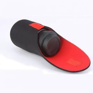Image 3 - 5 גודל מצלמה עדשת תיק Neoprene עמיד למים מצלמה עדשת פאוץ תיק מקרה S M L XL XXL עבור Canon DSLR מצלמה עדשת תיק