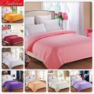 1 pieza funda de edredón de Color puro de algodón suave bolsa de cama Rosa adultos niños niñas edredón funda de Manta 150 200x180x200 cm