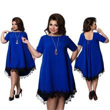 Artı Boyutu XXXXXL XXXXXXL Kadın Dantel Elbise Uzun Kollu O-boyun Düğmeler Vestido Süslenmiş Bayanlar Elbiseler Rahat Sonbahar