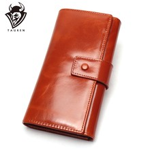 Genuine Leather Women Wallet Clutch Bag Female Long Card Holder Lady Wallet Rfid Luxury Brand Money Bag Magic Coin Purse(China)