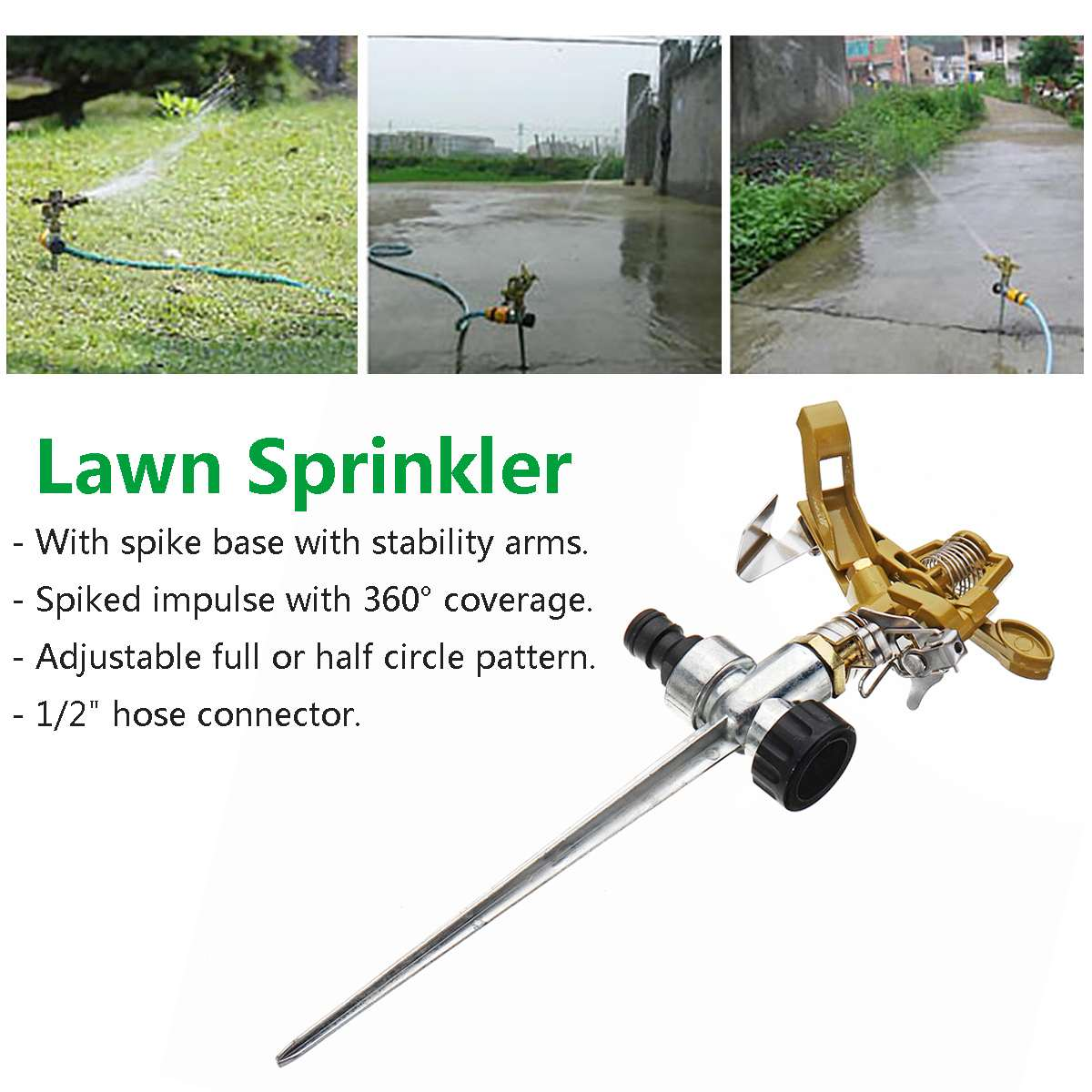 Watering & Irrigation Muciakie Garden Sprinkler On Plastic Spike Lawn Grass 360 Degree Adjustable Rotary Water Sprayer For Garden Irrigation System