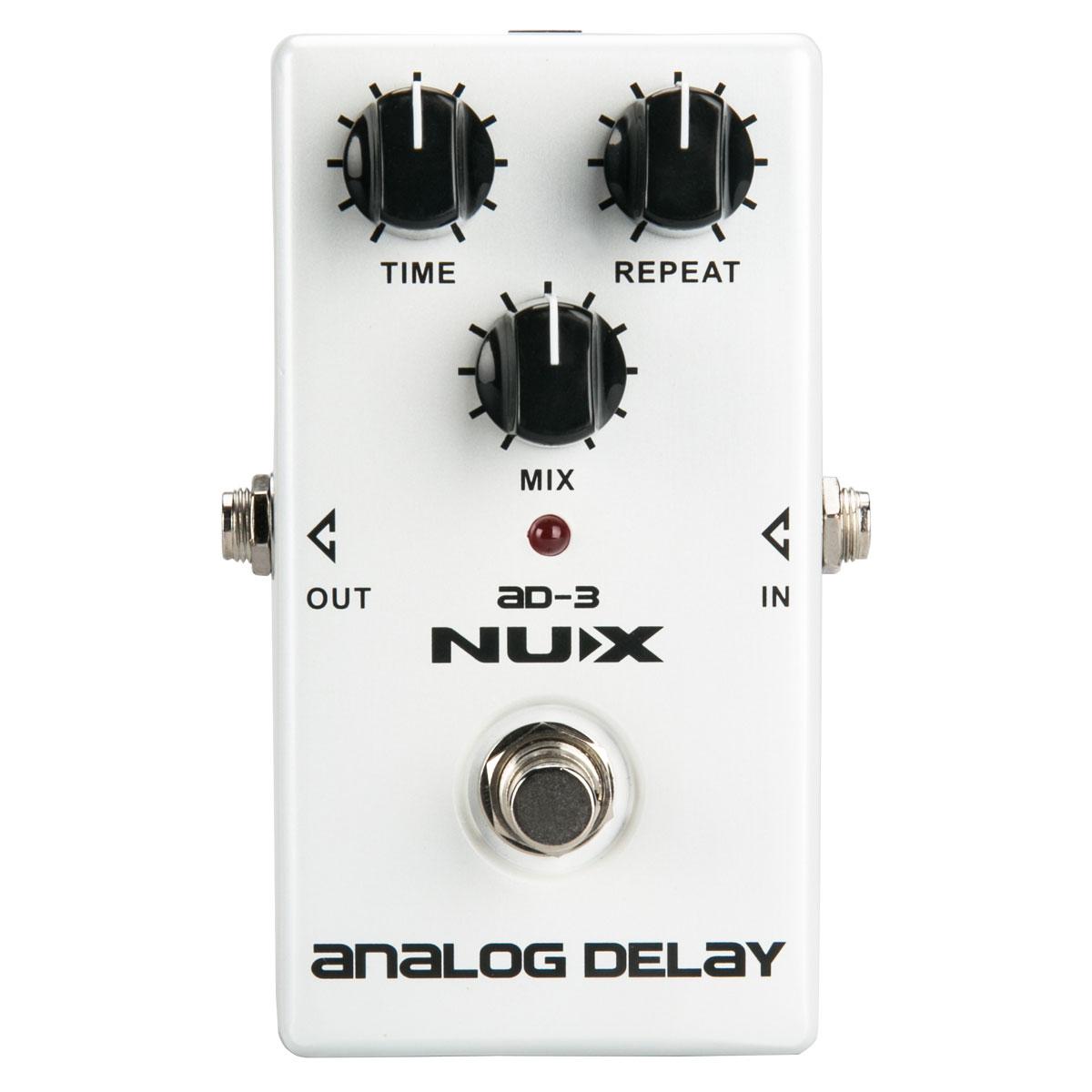 NUX AD3 Guitare Effets Pédale Analogique Retard Effet Faible Bruit BBD Retard Circuit 20-300 ms temps de Retard
