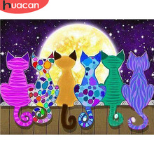 HUACAN Diamond Painting New Square Stones Cartoon Embroidery Nature Cat Hobby And Handicraft Mosaic Sale
