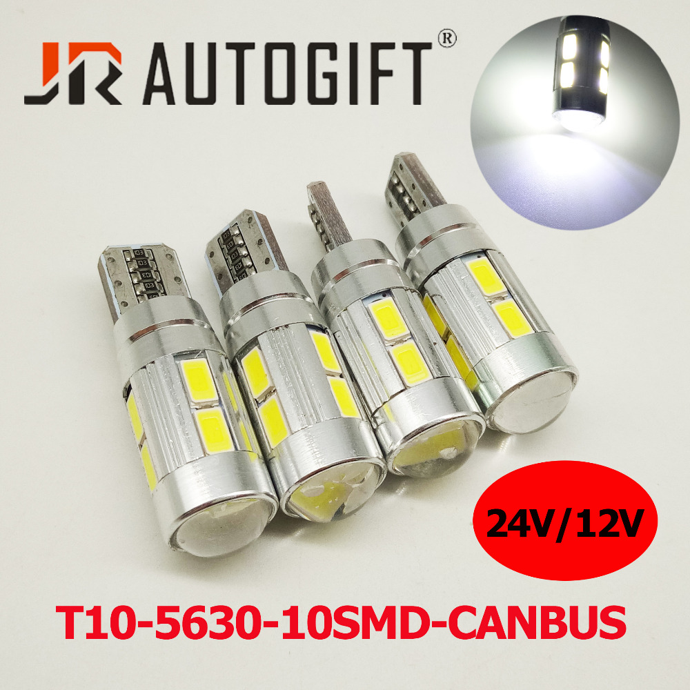 100X car styling Car Auto LED T10 194 W5W Canbus 10 SMD 5630 LED Light Bulb
