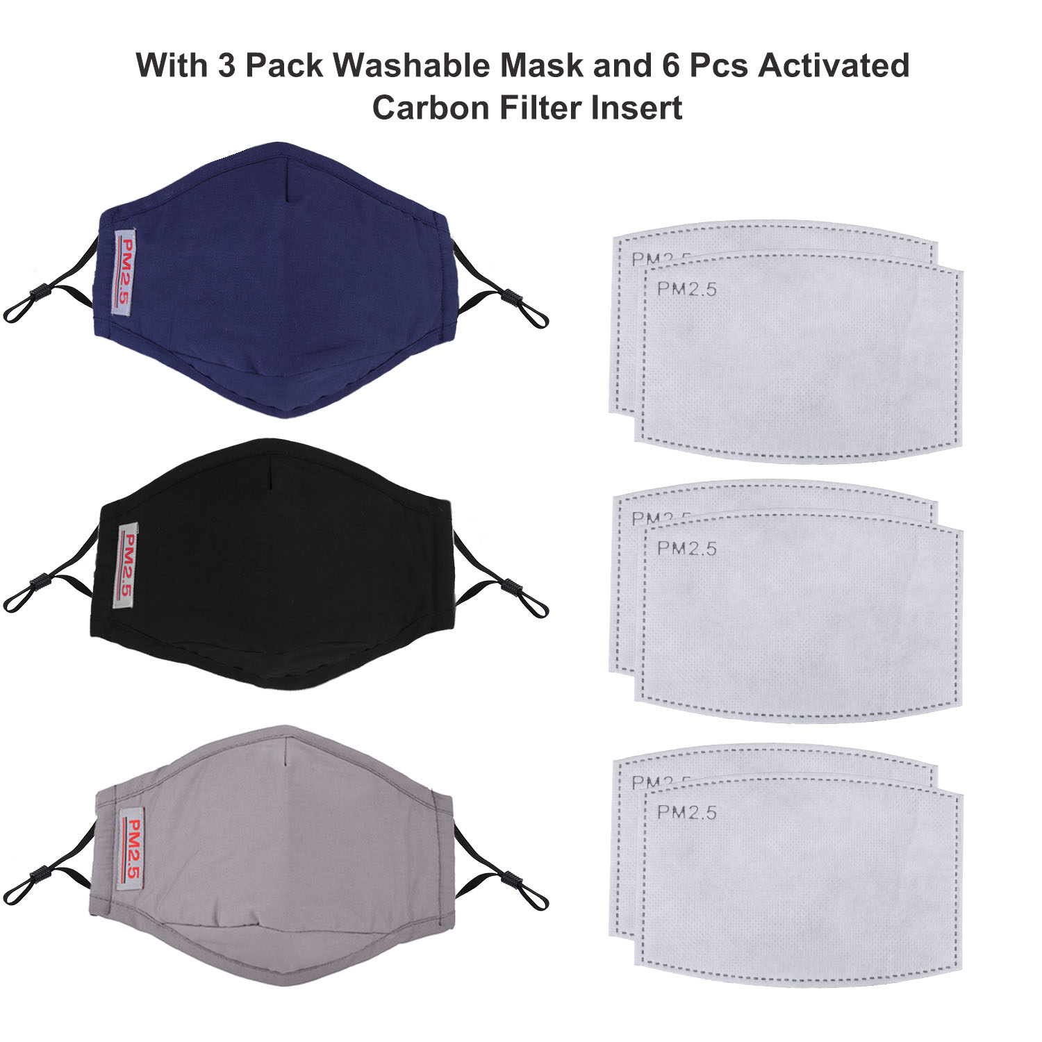 Image 5 - 3pcs Fashion Face Mouth Mask Anti Dust Mask PM2.5 Filter  Windproof Mouth muffle Bacteria Proof Flu Face Masks Care  ReusableWomens Masks