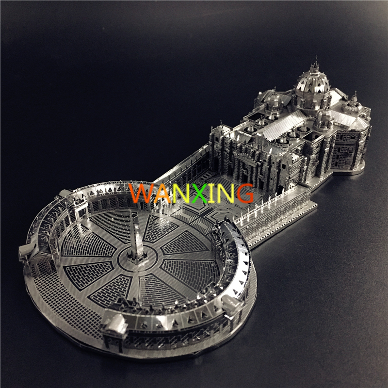 3D Metal Model St. Peter's Basilica Jigsaw Puzzle DIY Hobby Collection Toys For Children Free Shipping