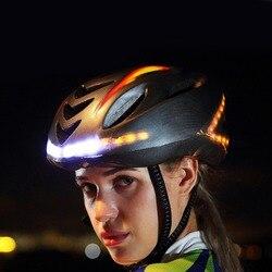Mounchain Unisex 57 62cm kask rowerowy światło rowerowe Smart casco MTB kask górski akcesorium rowerowe USB wymagalny kontroler w Kaski rowerowe od Sport i rozrywka na
