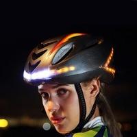 Mounchain unisex 57 62cm capacete da bicicleta ciclismo luz inteligente casco mtb capacete de montanha acessório usb controlador exigível|Capacete da bicicleta| |  -