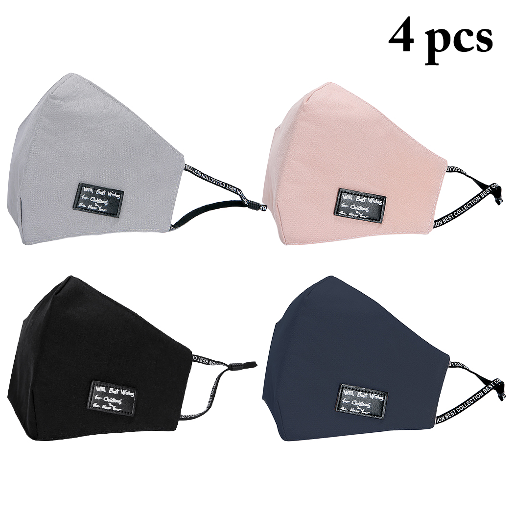 4pcs Mouth Masks Assorted Color Cotton Unisex Anti-dust Mouth Mask Dustproof Half Face Masks For Men Women Dropshipping