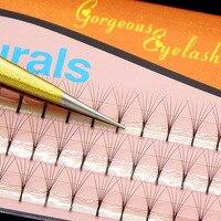 300PCS Navina Professional 6D Individual Eyelashes Extension Natural Long Grafting False Cluster Eyelash Makeup 3D Cilia Lash
