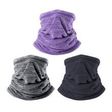 Зимний теплый ошейник для шеи, мягкий флисовый шарф, ветрозащитная и устойчивая к холоду теплая маска для лица, для спорта на открытом воздухе, для пеших прогулок, шарфы