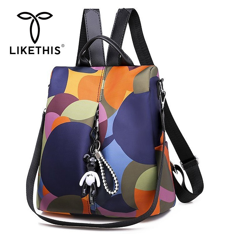 LIKETHIS 2019 Backpack Teenage Shoulder Bag Mochila Feminina Colourful Women Backpacks Mochilas Casual Bagpack Female Sac A Do