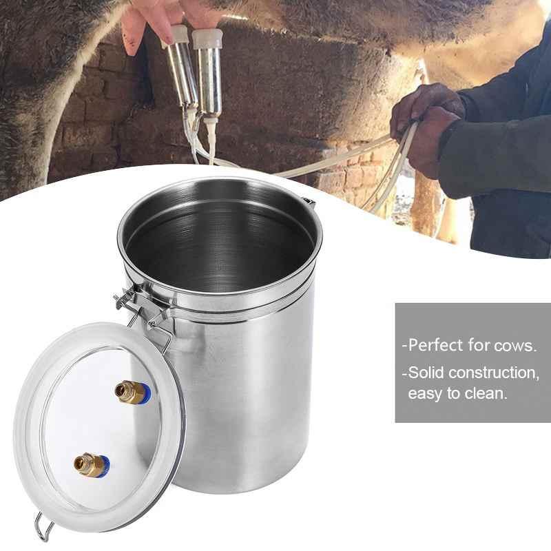 2L 耐久性牛搾乳機 75Kpa 真空ポンプ搾乳ダブルヘッド EU/米国/AU プラグ搾乳機 110V--220V