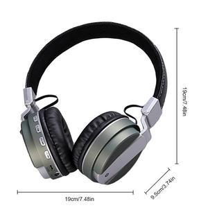 Image 5 - Auriculares portátiles de pintura metálica auriculares inalámbricos Bluetooth auriculares estéreo Hd sonido envolvente deportes dispositivos de salida con micrófono