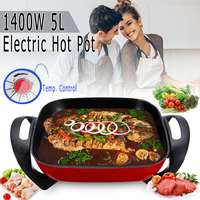 1400W 5L Multifunctional Electric Non Stick Hot Pot Shabu Frying Cooker Cookware 220V Self service Hotpot Cooker Winter Party