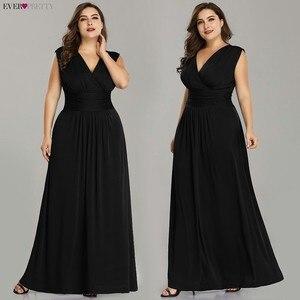 Image 3 - Plus rozmiar sukienki druhen kiedykolwiek dość EZ07661SB dekolt bez rękawów szyfonowa sukienka na wesele tanie długie Vestido Madrinha