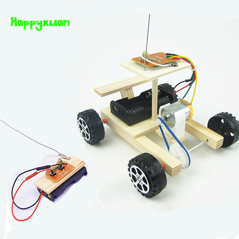 Happyxuan Kids DIY Electric Remote Control Car Science Toys Physics Experiment Educational Material Kits Boys Gift цены