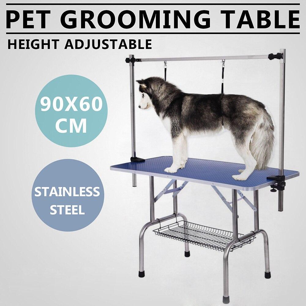 iKayaa 36 Large Folding Pet Dog Grooming Table W Arm Noose Shelf Heavy Duty 150KG Capacity