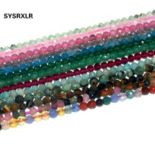 Wholesale Faceted 2mm 3mm Natural Stone Amazonite Amethysts Agates Lapis lazuli Beads For Jewelry Making DIY Bracelet Necklace