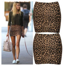 Women Leopard Print High Waist Pencil Skirts Ladies Bodycon Short Mini Skirt Sexy New(China)