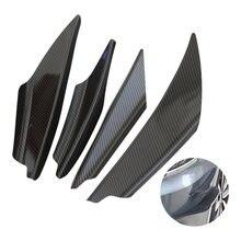 4 шт/компл черный углеродное волокно подходит для переднего