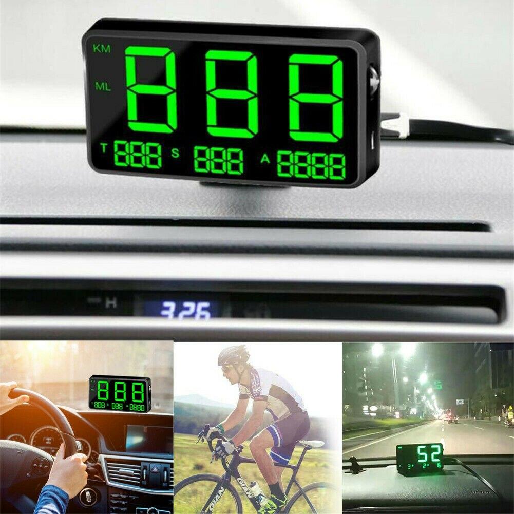 Universal GPS HUD Digital Head Up Display Car Speedometer Speed Warning AlarmUniversal GPS HUD Digital Head Up Display Car Speedometer Speed Warning Alarm