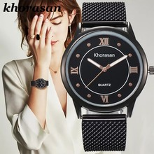 montre bracelet femme en tissus Watch For Women Casual Casual Plastic Strap Band Clock Analog Wrist Watches Alloy Quartz Female