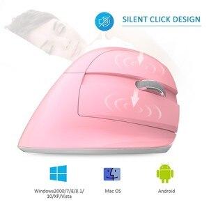 Image 2 - ديلوكس M618 بلوتوث صغير + USB ماوس لاسلكي صامت انقر RGB مريح قابلة للشحن الكمبيوتر الرأسي الفئران للمستخدمين اليد الصغيرة