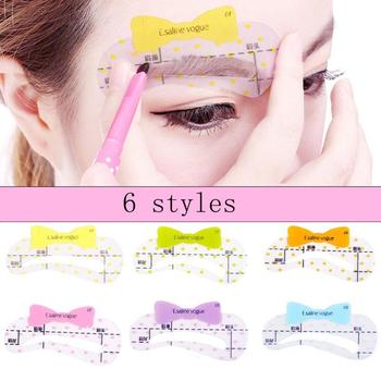 XY Fancy 6 Pcs/set Eyebrow Stencils Mold Grooming Shaping Template Makeup Tool 6-Style