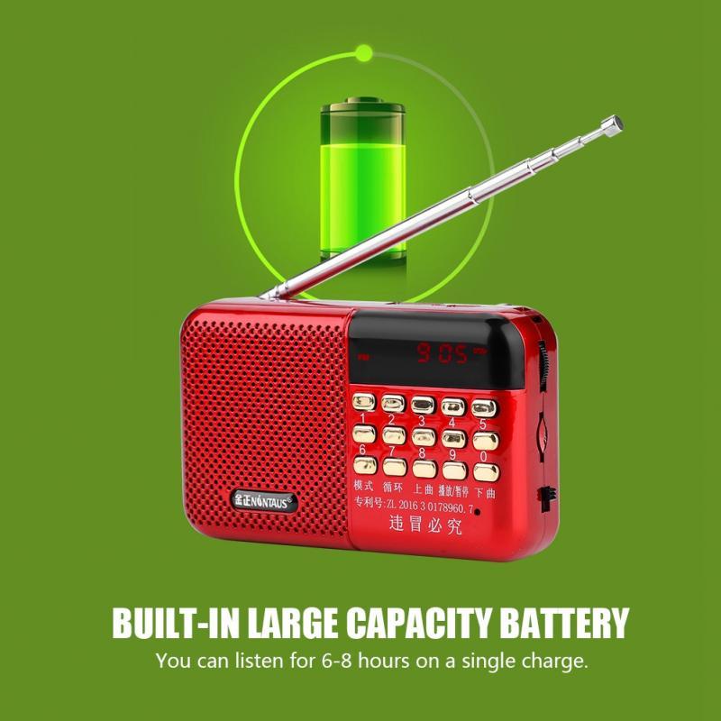 Unterhaltungselektronik Vbestlife Mini Tragbare Fm Radio Digital Lcd Display Panel Stereo Fm Radio Noise Cancelling Lautsprecher Unterstützung Usb Tf Mirco Sd Karte Tragbares Audio & Video