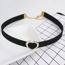Heart Choker Necklace For Women Velvet Chokers Love Necklaces Chocker Tattoo Collar Party Jewelry Steampunk Choker Accessories