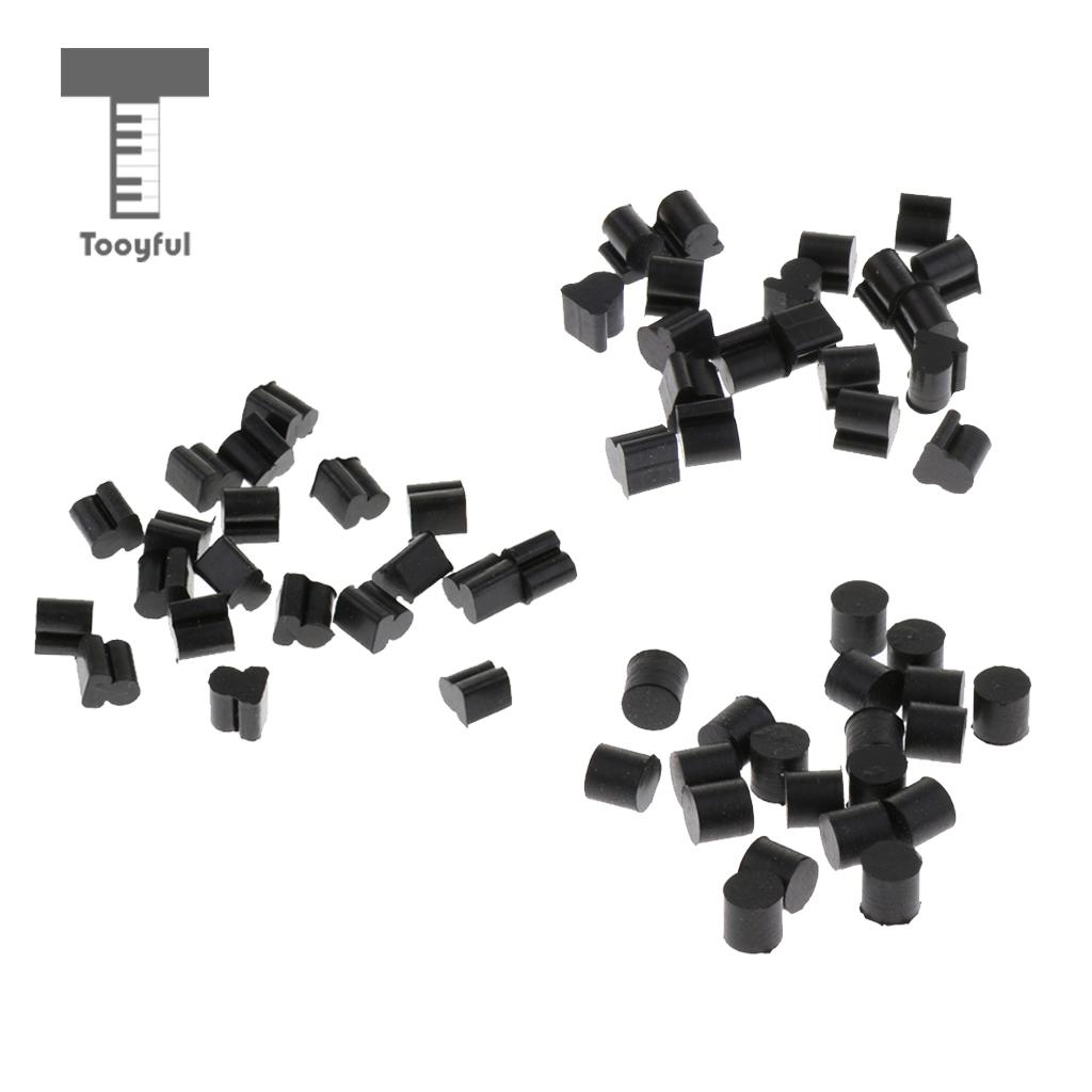 Tooyful Finest 20 Pieces Alto Horn Silicone Pads Cushion Pad Black Brass Instrument Parts for Hornist